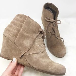 """DOLCE VITA faux suede lace up boots wedge heel 3"""""""